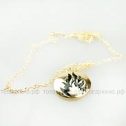 Медальон Дивергент Бесстрашие золото