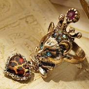 Кольцо Лисенок с короной