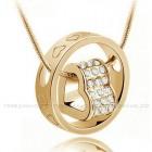 Кулон Сердце в Кольце Золото