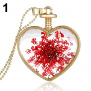 Кулон цветок в сердце