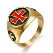 Кольцо Тамплиера Красный Крест