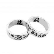 Парные кольца Красавица и Чудовище