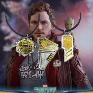 Кулоны и значок Звёздный Лорд