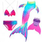 Купальный костюм русалочки Моноласта хвост Rainbow Reef