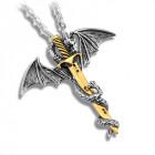 Кулон Дракон с мечом
