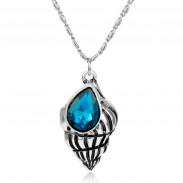 Кулон ракушка с кристаллом