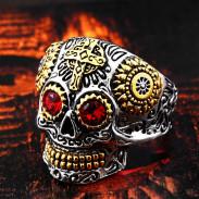 Кольцо череп с глазами