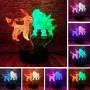 3D Светильник Иви Покемон