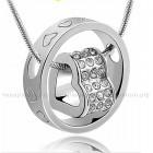 Кулон Сердце в Кольце Серебро