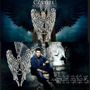 Кулон крылья ангела с пентаграммой