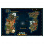 Карта Калимдора и Восточных Королевств Синий Цвет