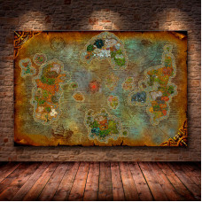 Карта Азерота World Of Warcraft