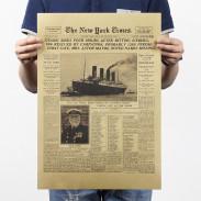 Плакат газета NYT Титаник