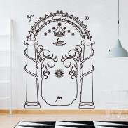 Настенный стикер Врата Дурина Мориа